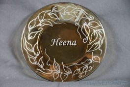 Glass Plate Etched with Custom Text