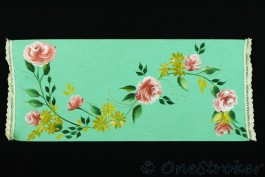 Floral vine on table runner
