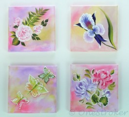 High Def Flower Painting Combination Set