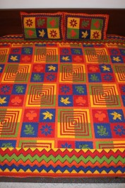 Bedsheet / Pillowcases with handiwork