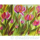 Tulips on Canvas using High Def One Stroke