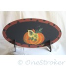 Decoration Oval - Fall Pumpkins Painting