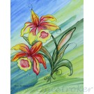 Orchids - Waterstrokes Painting