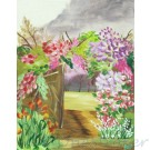Garden path painting on canvas