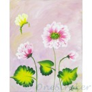 Peony flower painting on canvas