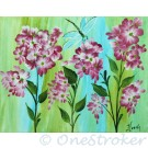 Geranium flowers painting on canvas