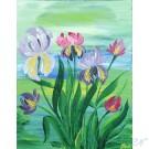 Iris painting on canvas