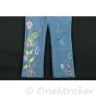Floral Painted Womens Jeans