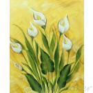 Gilded Lilies in High Def on Canvas
