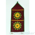 Letter Holder with Embroidery and Mirrors