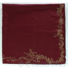 Maroon Table Cloth with Gold Border